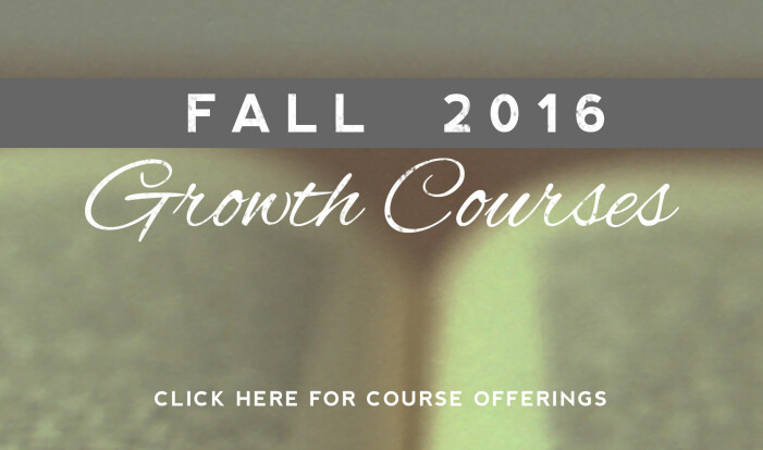 Fall 2016 Growth Courses